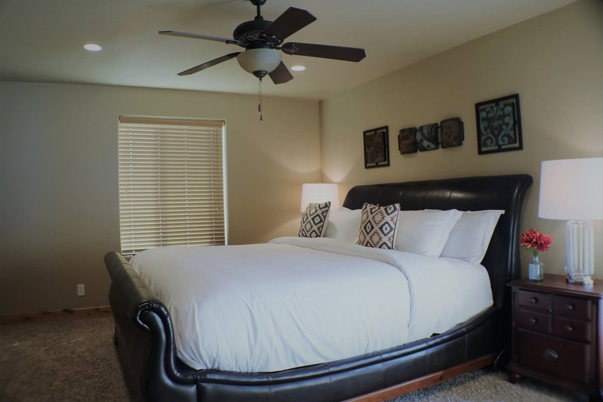 King bed with high-quality linens