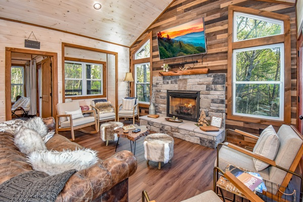 A warm inviting lodge with a Nordic Flair