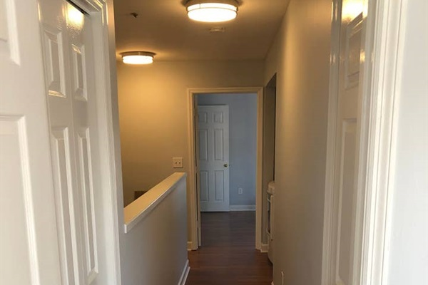 Upstairs hallway that connects the two upstair King Bedrooms and where the laundry area is located.