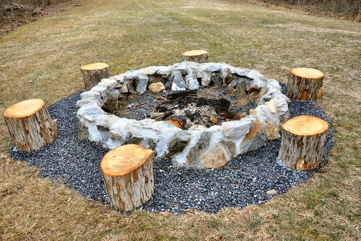Huge campfire pit