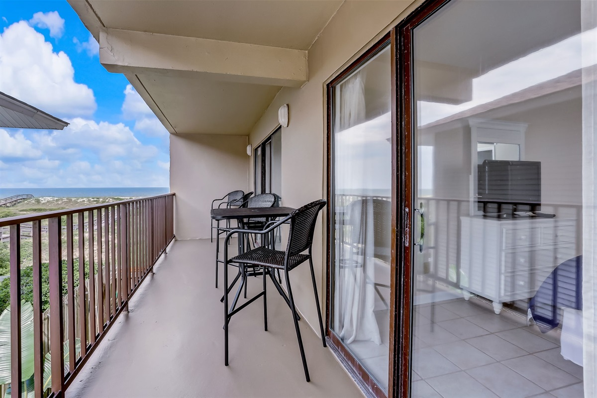 Balcony from Master and Living Room