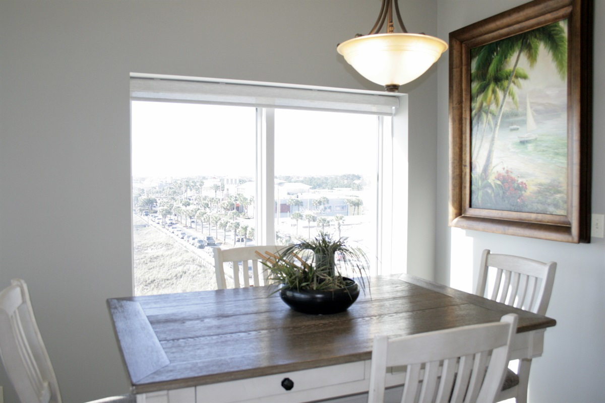 Dining area with view of Pier & Pier Park
