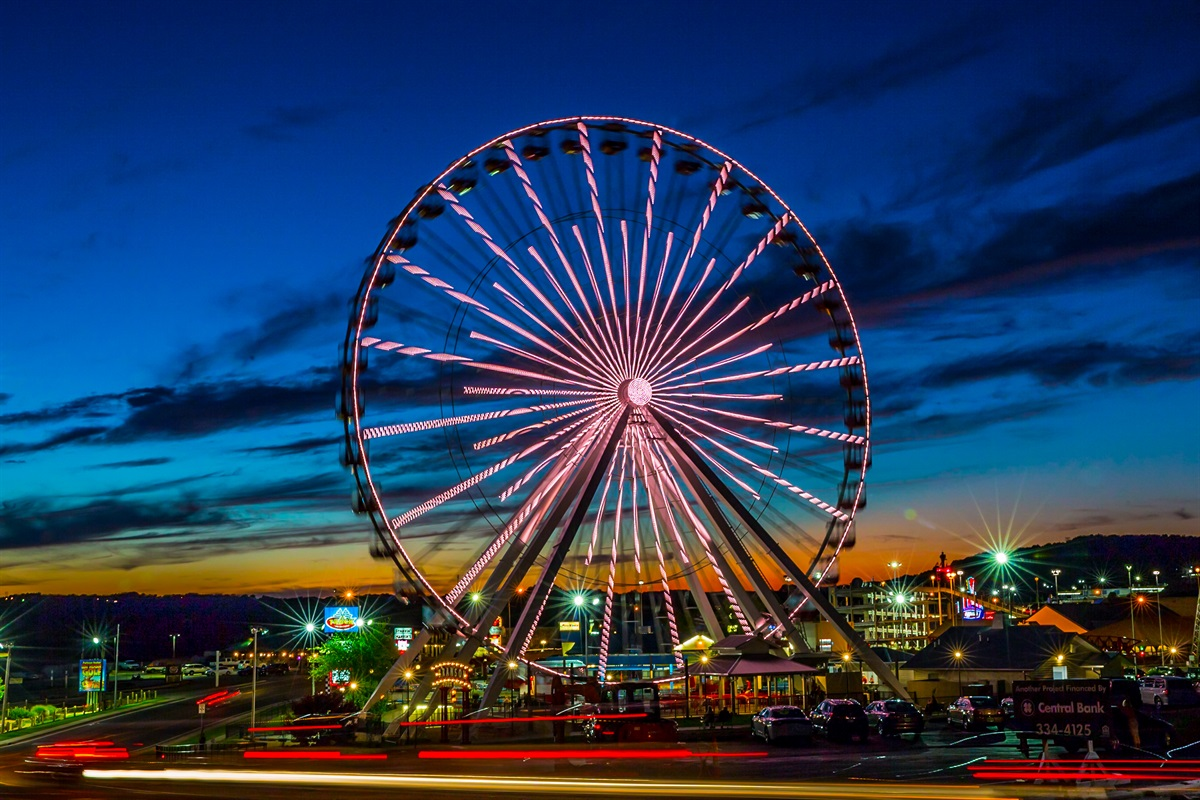 Don't forget to enjoy the light show at the Branson Ferris Wheel--or even take a ride!
