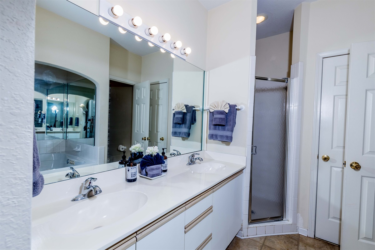 Dual vanities make it easy and fast to get ready in the morning!