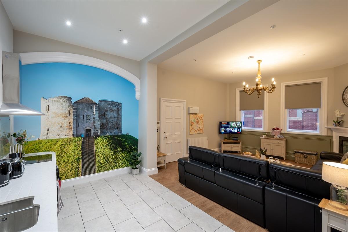 Mural & Living Area