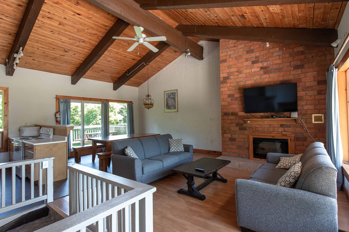 """""""Bear"""" - Open concept living, dining & kitchen"""