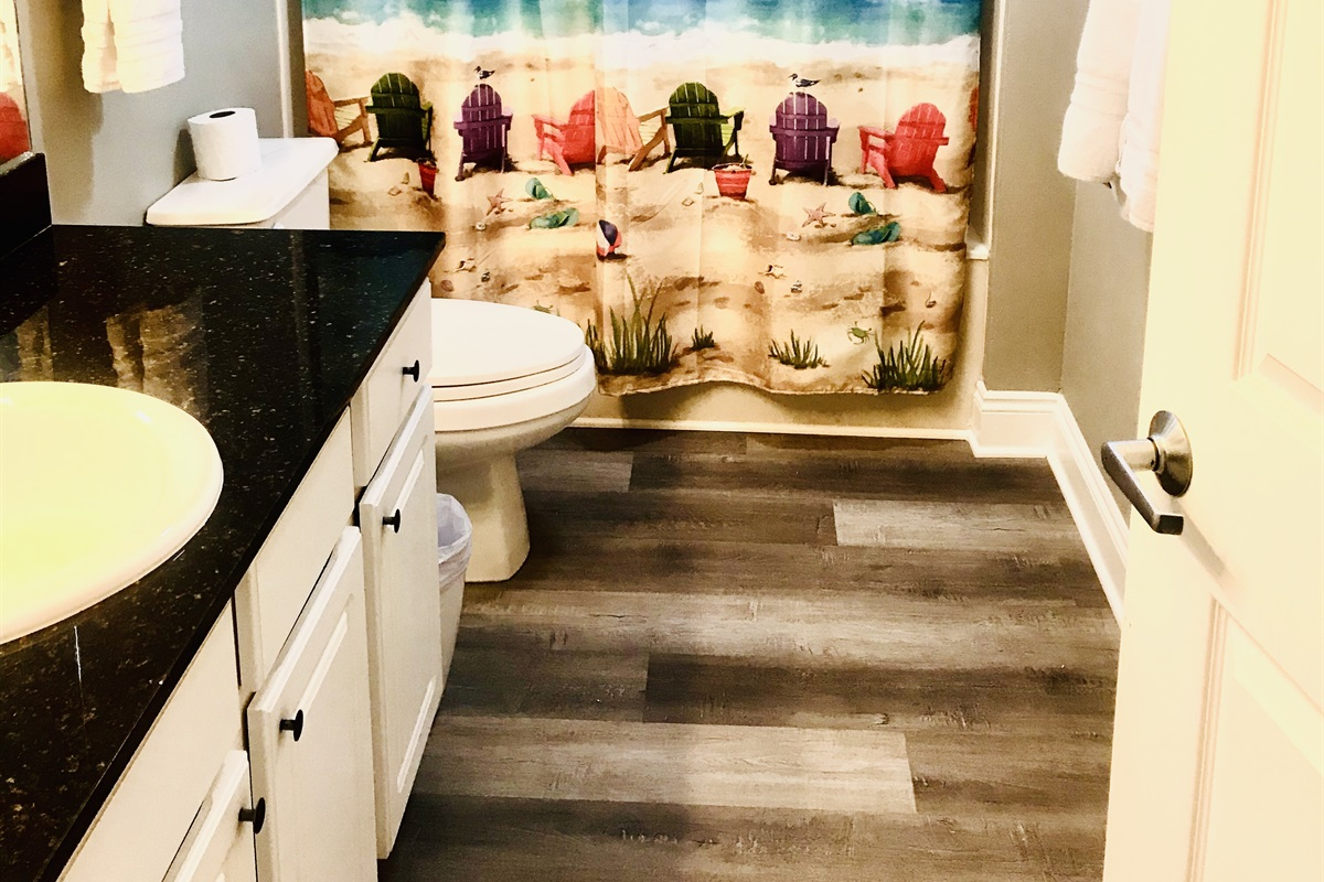 Guest Bath with entry from Guest Room or Hallway