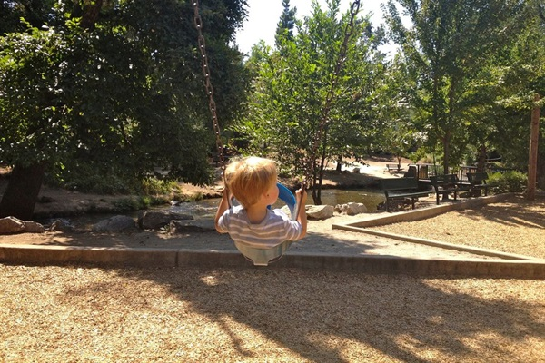Murphys Playground - right along a creek - best playground!