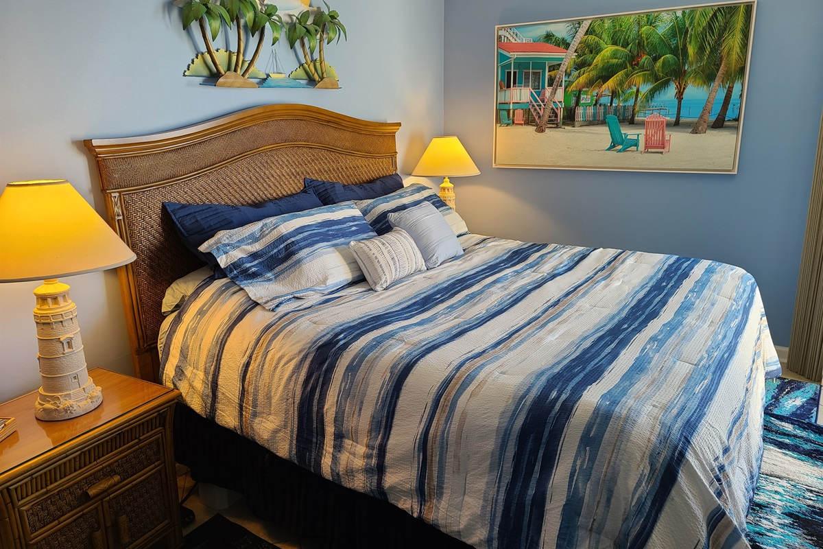 Master Bedroom, King Size Mattress/ Box Spring. Terrific Ocean Views from Bed
