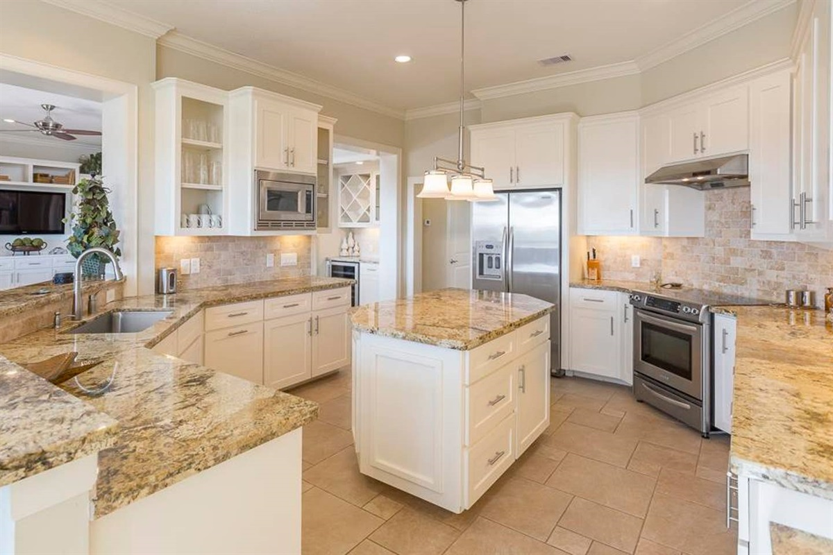 Large Kitchen with Updated Stainless Appliances