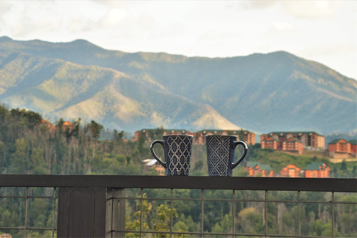 Morning coffee on the deck!