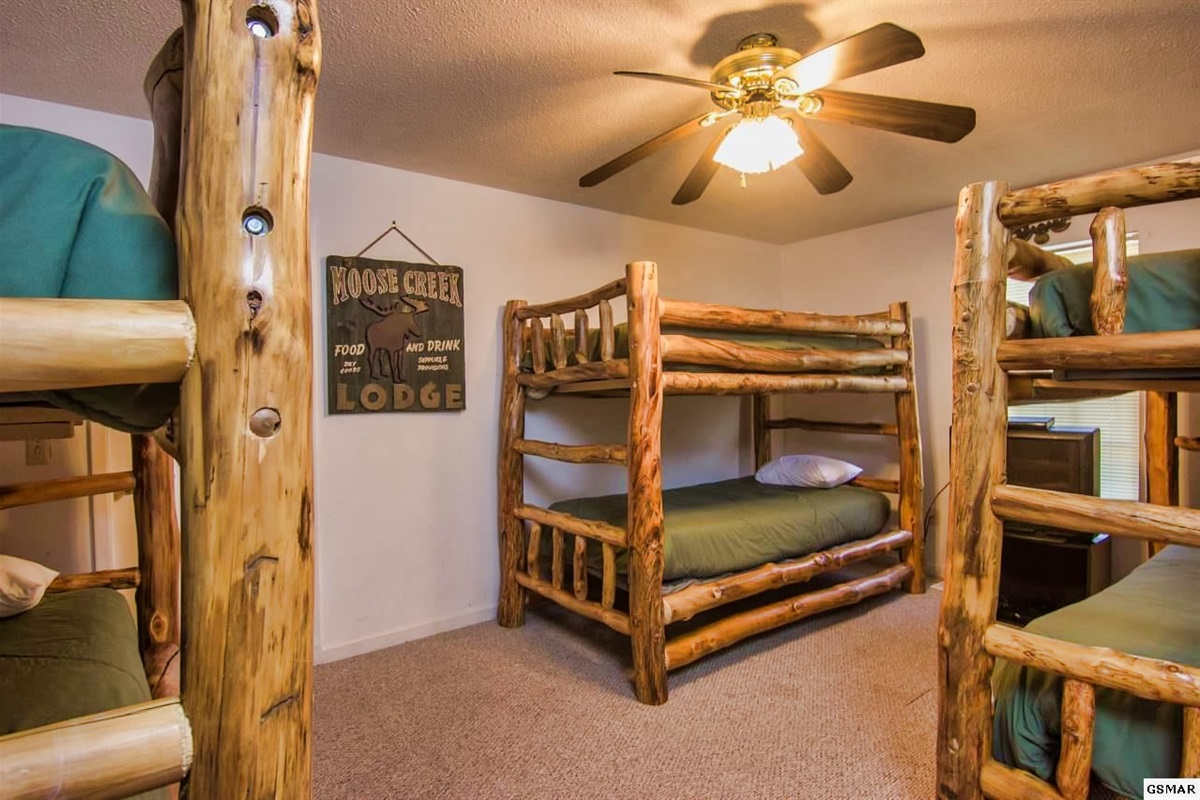 Bedroom 4 with 3 twin bunk beds