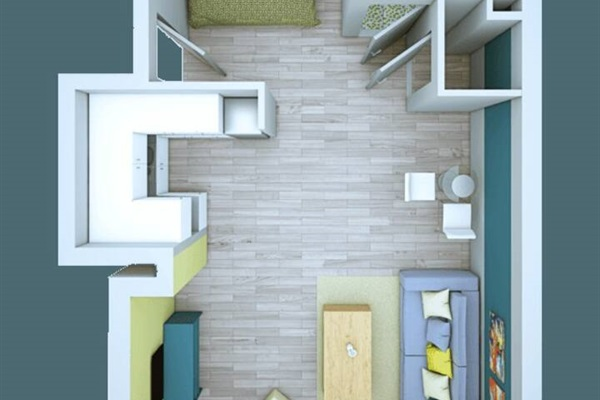 Floor plan of this apartment