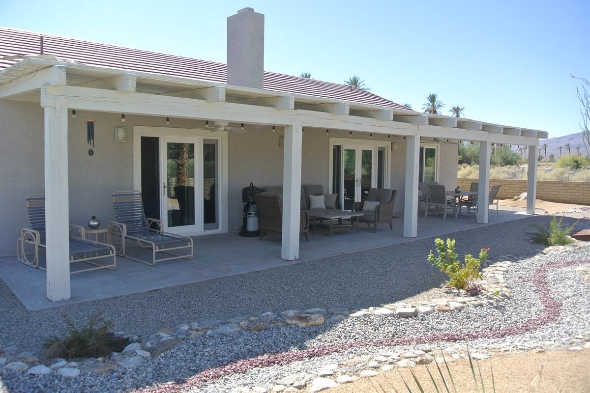 West facing patio