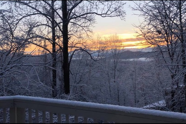 Sunrise from our deck!