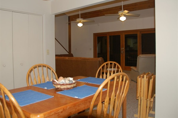 Dining room has view too