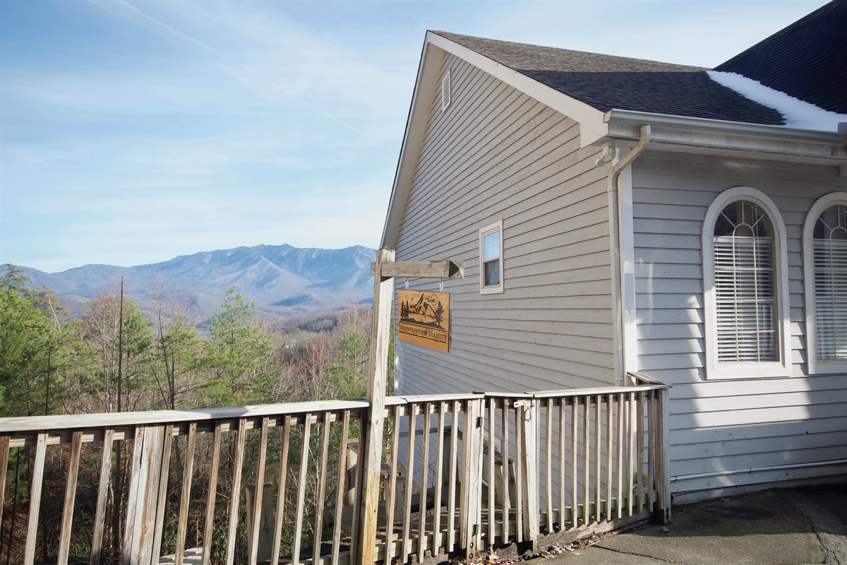 Front of home and Mt LeConte