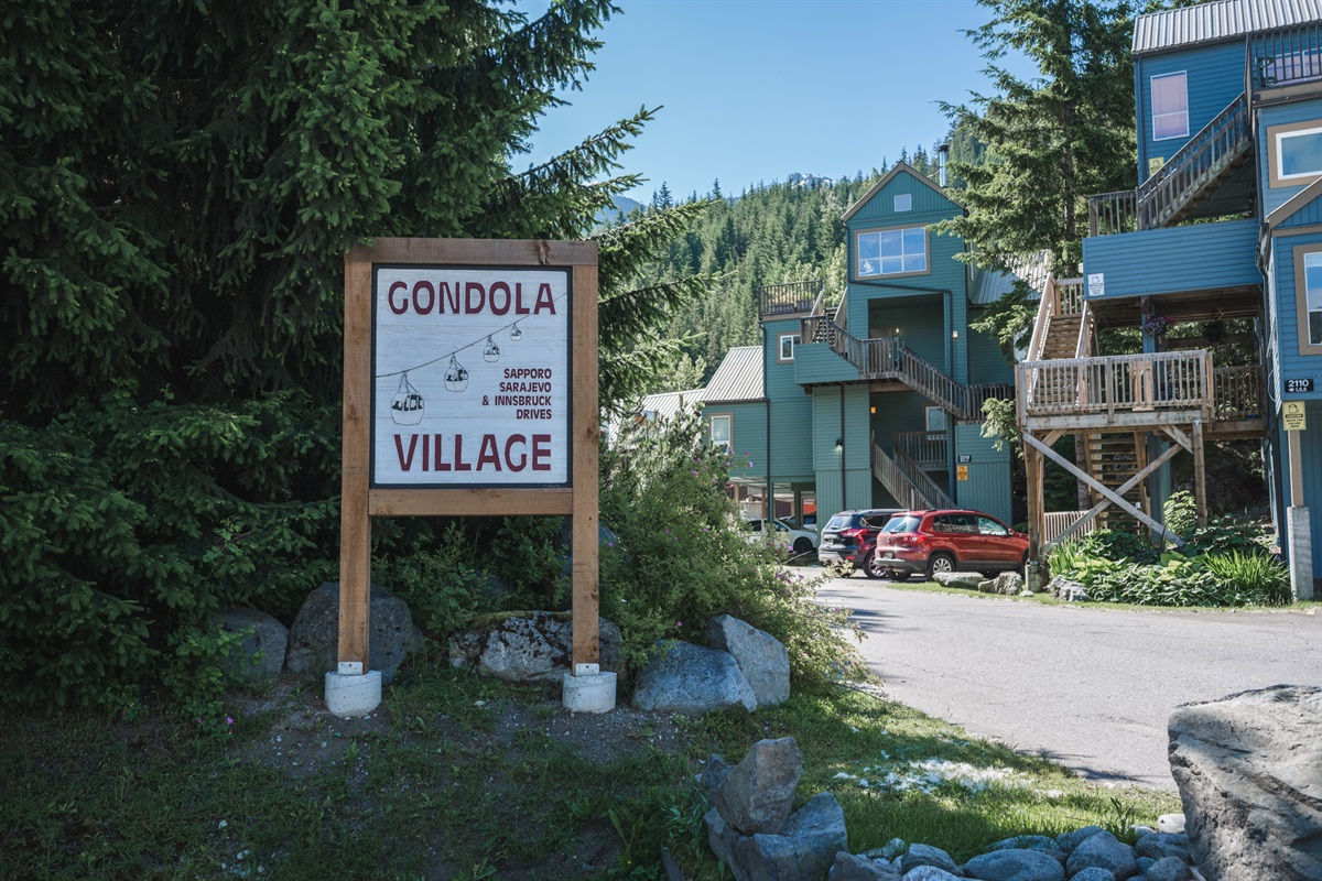 Gondola Village complex in Creekside - a 5 minute walk to the ski gondola and in the heart of Creekside Whistler.