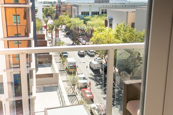 View of the Scottsdale Quarter from our balcony.