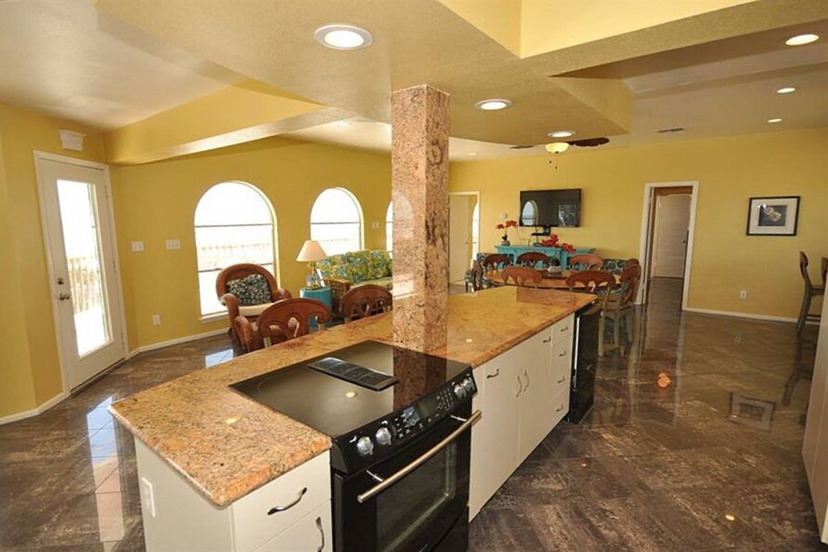 Kitchen with Large Island Bar