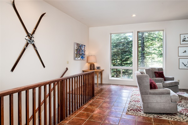 main level & stairs to lower level bedrooms