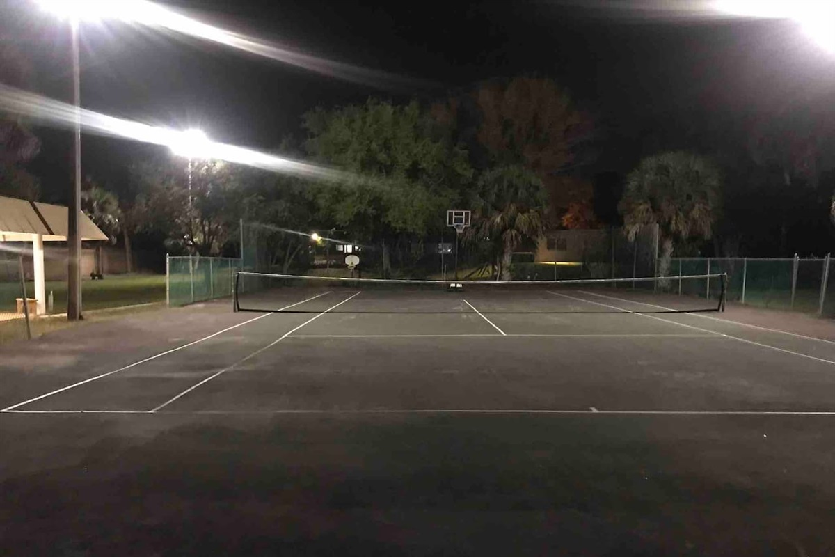 Now you can play tennis at any hour on the property - we recently added outdoor lighting throughout the outdoor area.