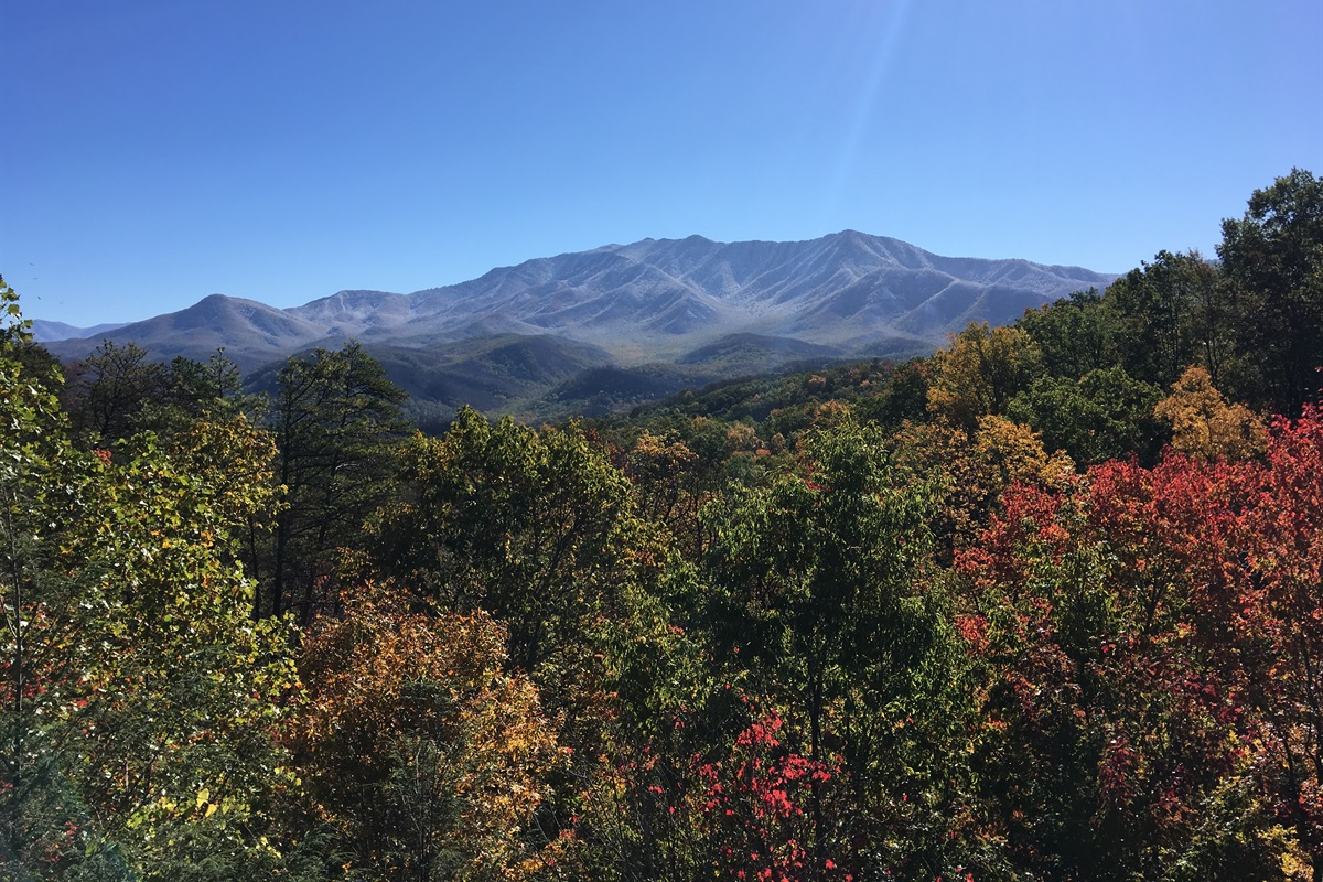 Autumn view from upper deck of Mt. Leconte
