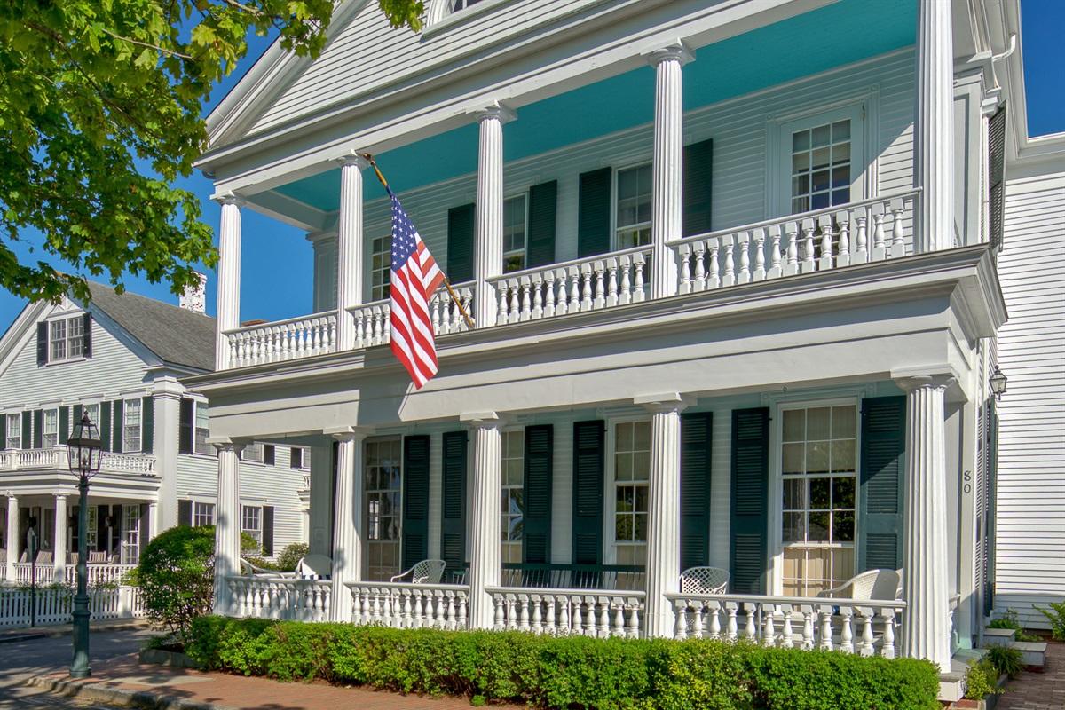 The Captain Morse House - front porches