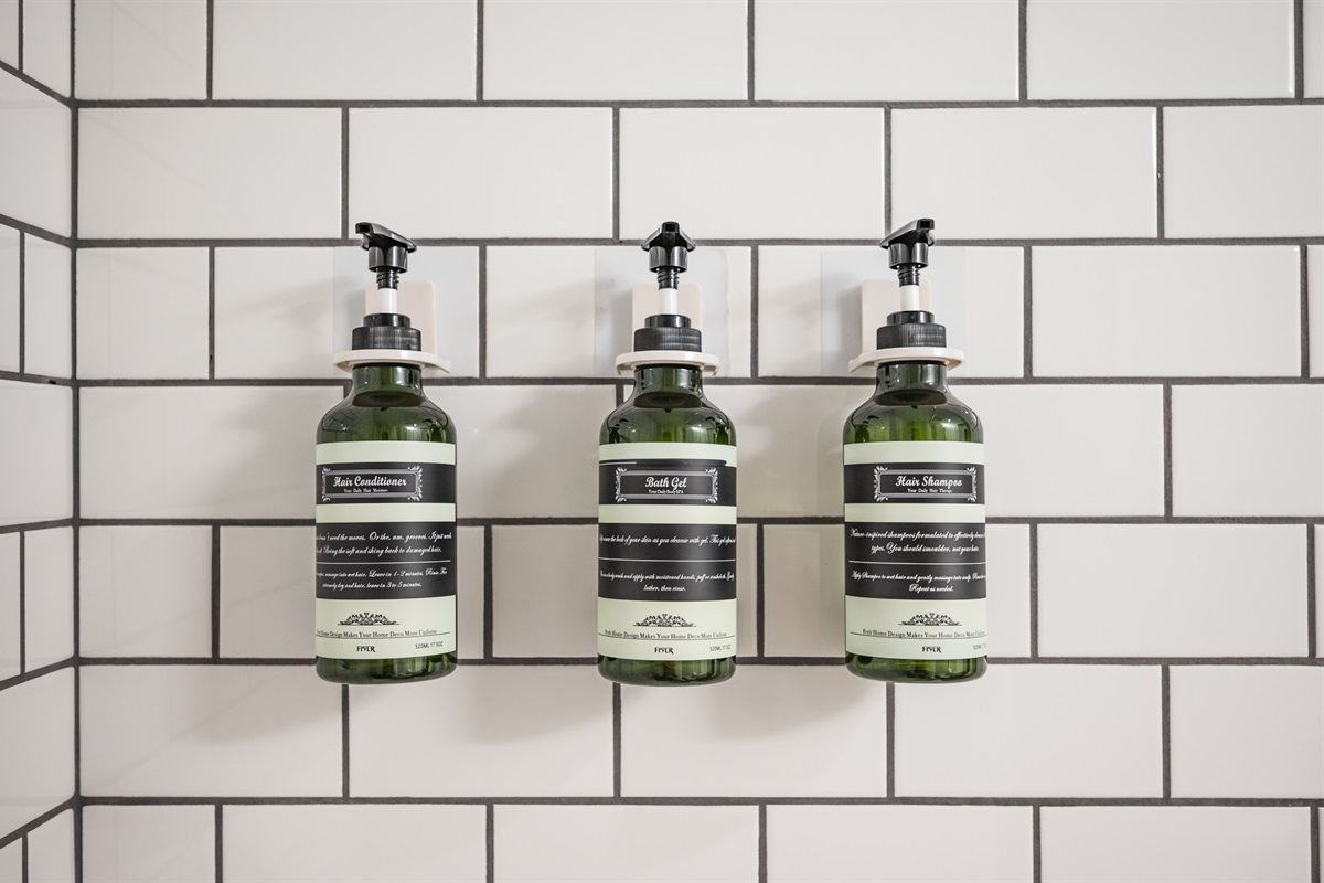 Shampoo, Conditioner and Body Wash included in your stay to help you save on luggage space.