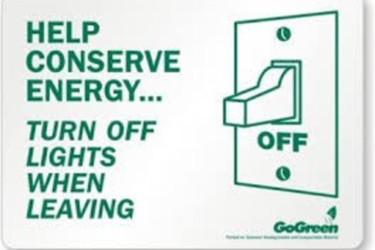 Please conserve energy!