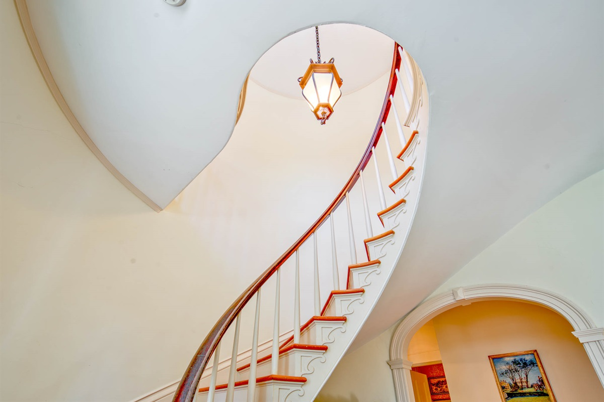 Spiral Staircase in front hall