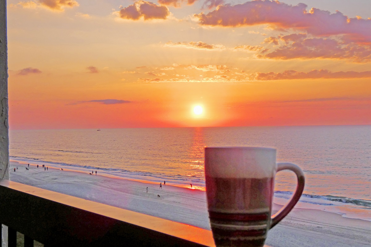 Enjoy Your Morning Beverage From 8th Floor Balcony