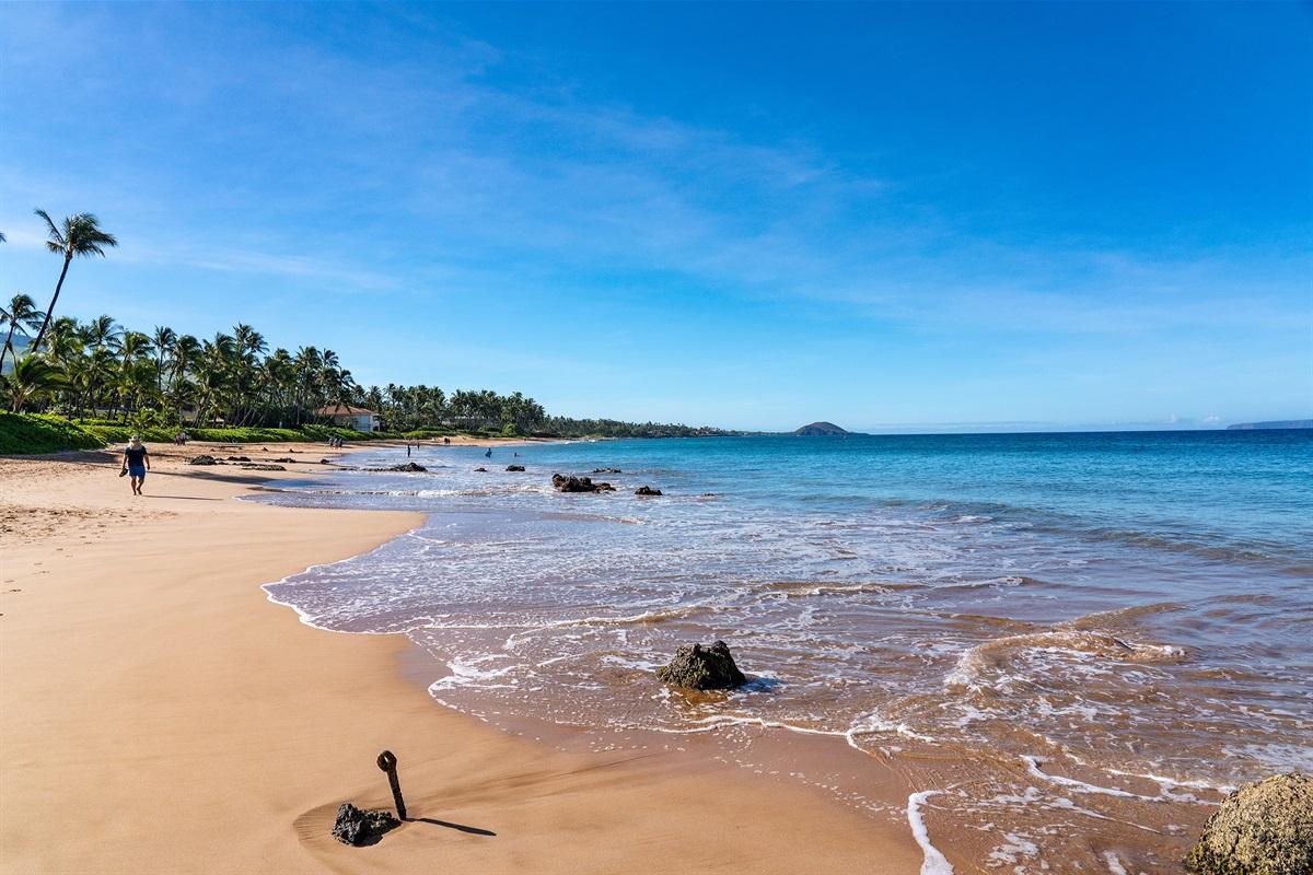 Stunning Kamaole III Beach, just across the street
