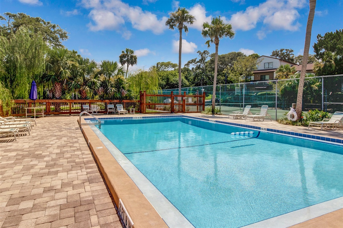 Gated Pool on Property