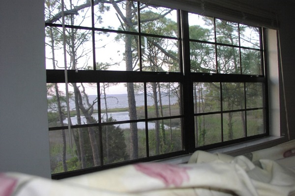 View from upstairs bed