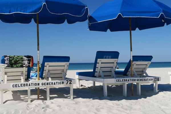 2 Complimentary Sets of Beach Chairs with Umbrellas March thru mid-October