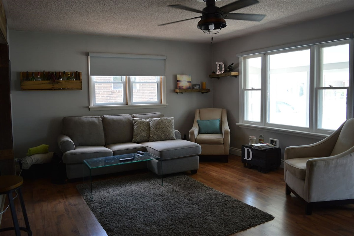 Living room off the kitchen