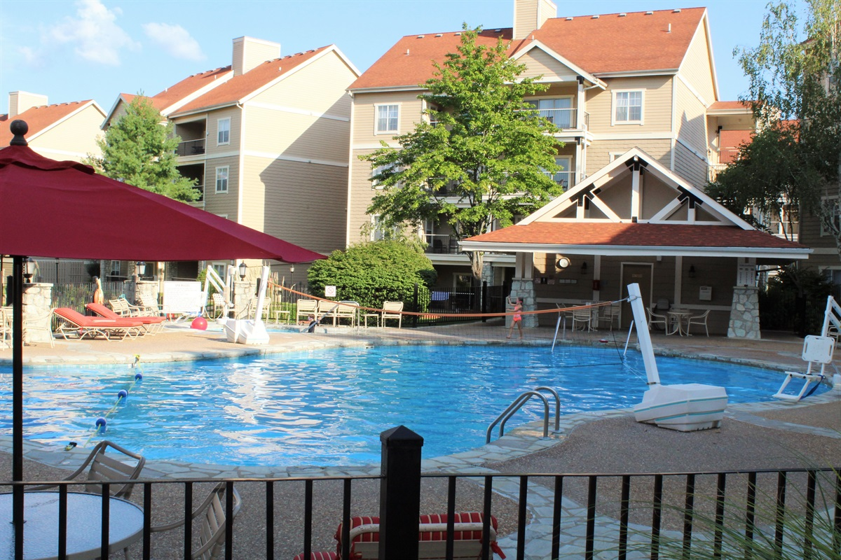 The second pool and hot tub are only a block away. The toddler pool is close by.