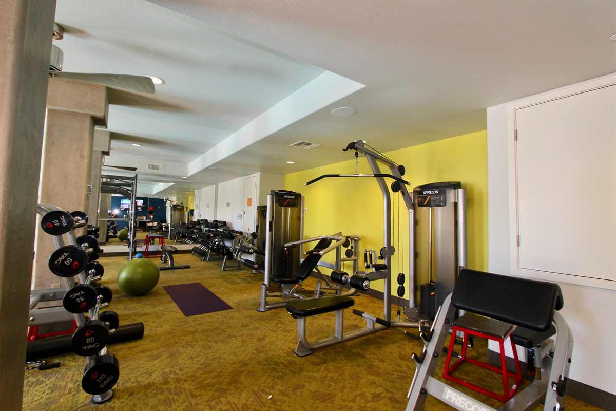 Always open fitness center.