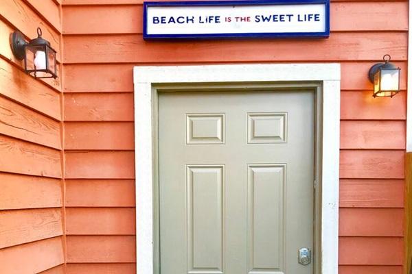 Exterior Door to Upper Cottage