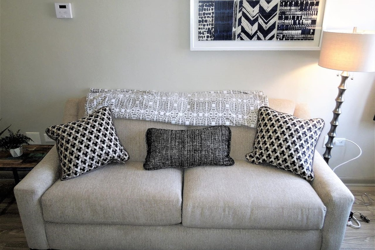 Sleeper sofa with full size pull out mattress