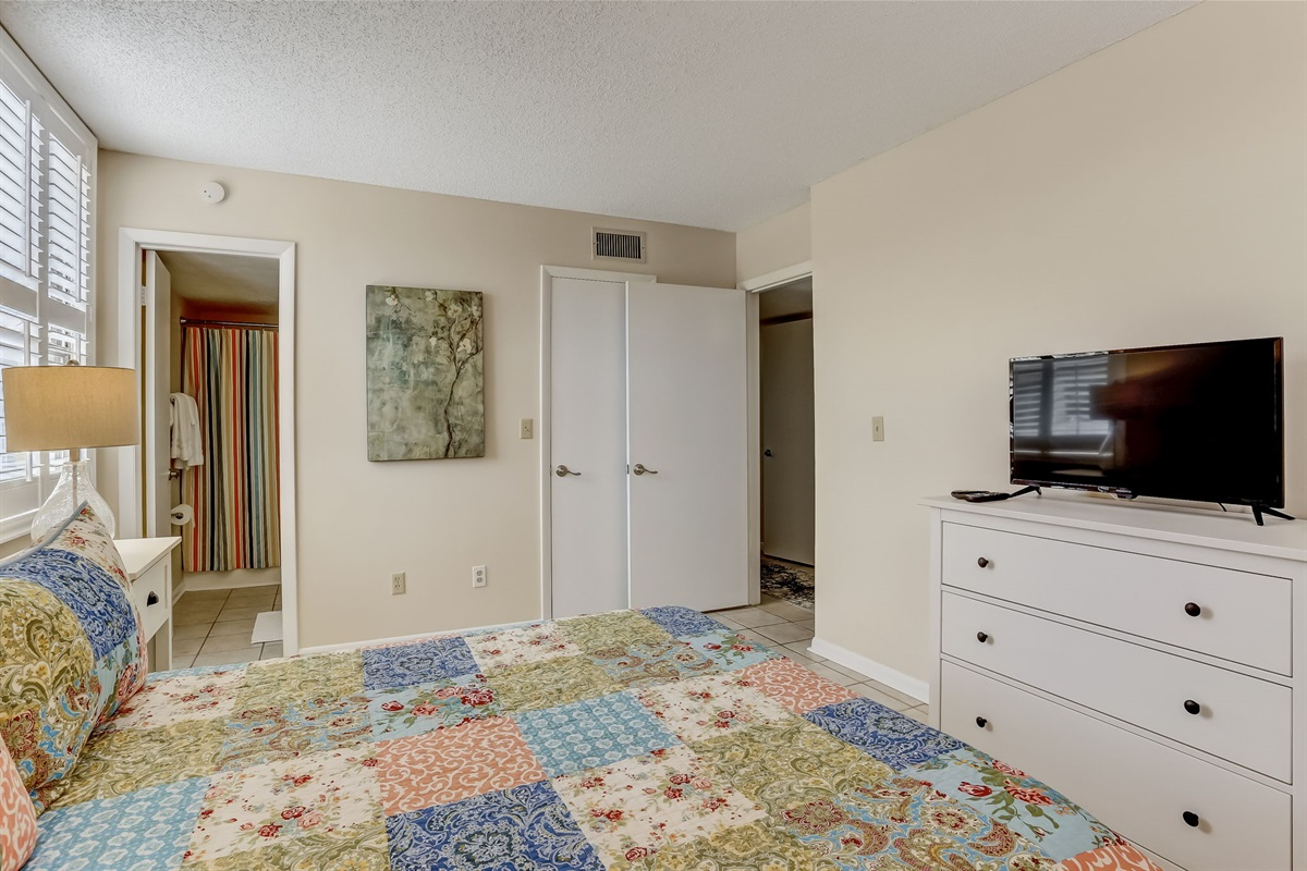 Guest Bedroom with Cable TV