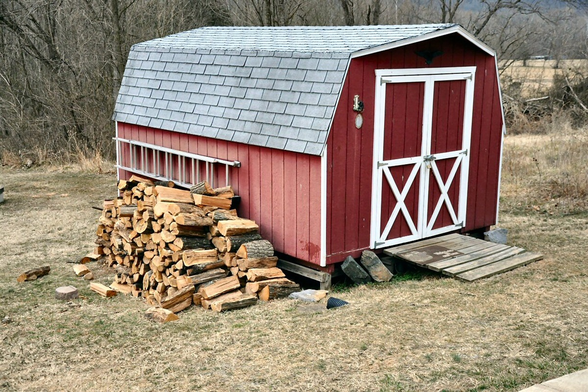 All the wood you need for the firepit