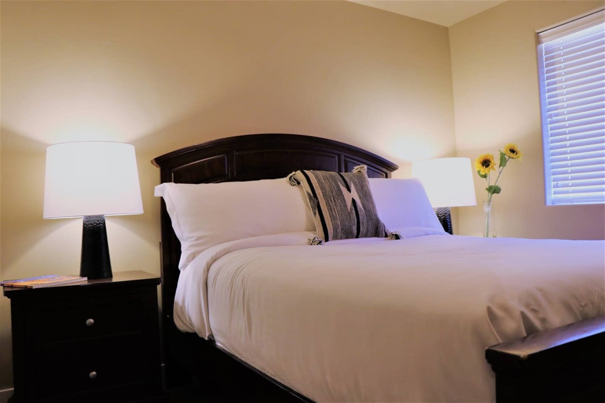 Suite #3 with Queen Bed and  Luxury Bedding