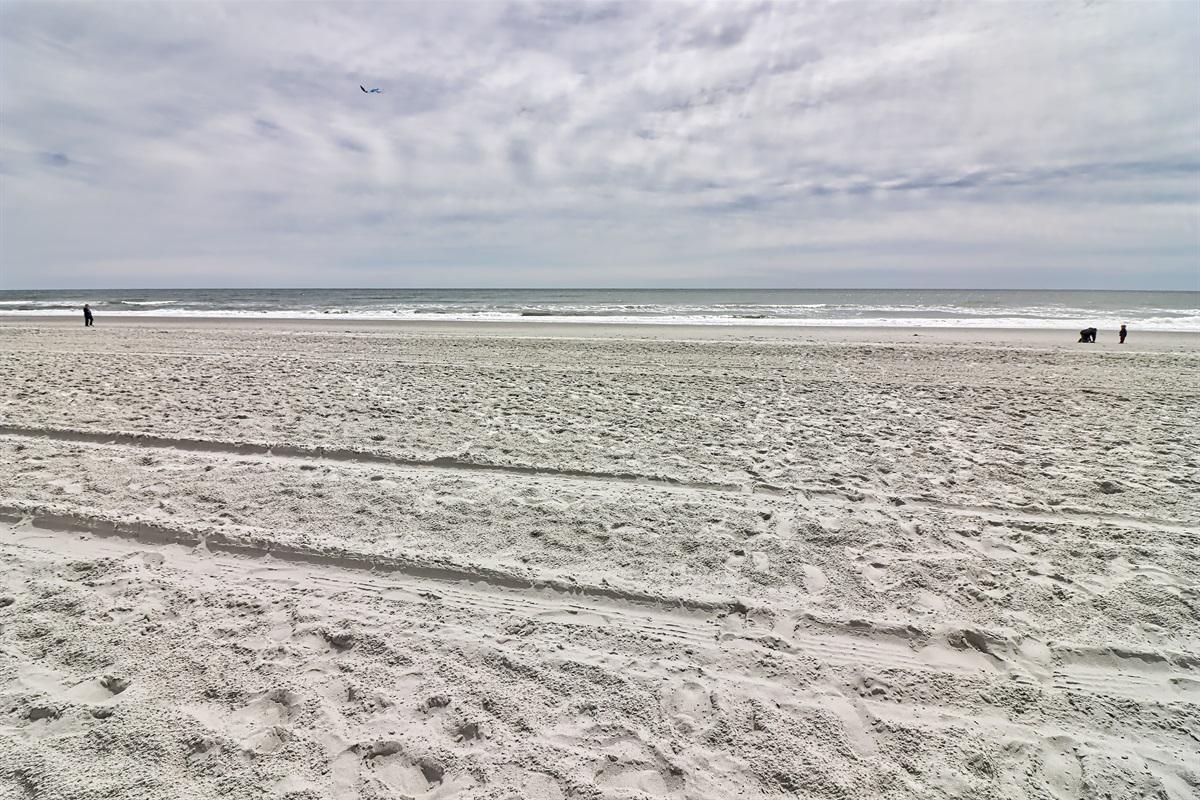 Soft white sand...