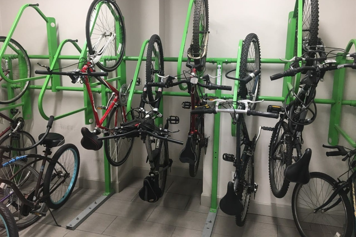 Bike Room available for bike storage if space is open. Make sure you bring a lock to secure your bike!