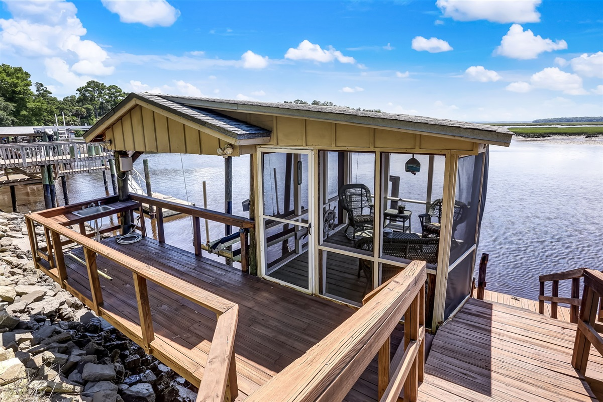Your Private Dock and Porch