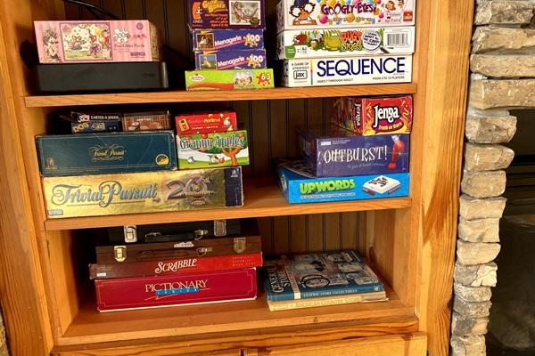 Games in the cabin.