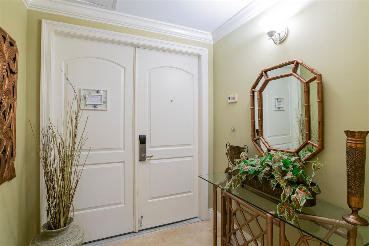 Elevator opens in your own private foyer