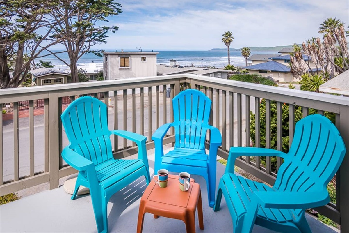 watch the whales from this beautiful balcony